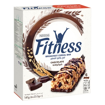 Nestle Fitness Chocolate Cereal Bar 6x23.5g