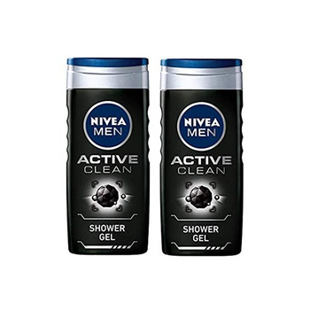 Nivea Men Active Clean Shower Gel 2X250ml