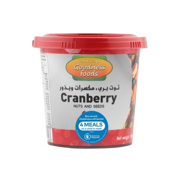 Goodness Foods Cranberry + Nuts Seed Jar 200g