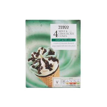 Tesco Mint&Chocolate Cones 4X110ml