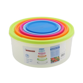 Chefs Pride Round Containers- 5 Pcs Set