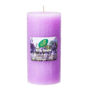 Samar Pillar Candle 7.5X15cm Purple-Lavender