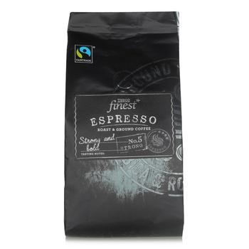 Tesco Finest Fair Trade Espresso Coffe  227g
