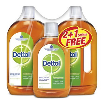 Dettol Anti-Septic Liquid 2 x 750ml + 500ml