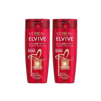 Loreal Elvive Color Vive Shampoo 2X400ml