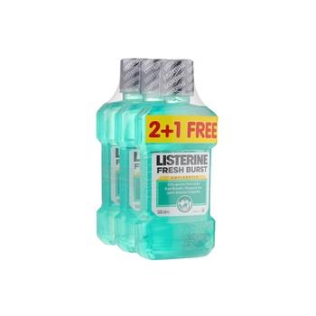 Listerine Mouthwash Fresh Burst 500ml Pack Of 3