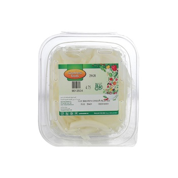 Goodness Foods Brown Onion Sliced 250g
