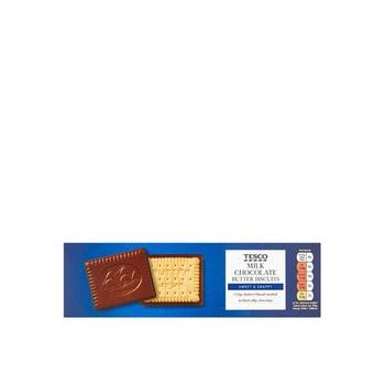 Tesco Milk Chocolate Coated Biscuits 125g