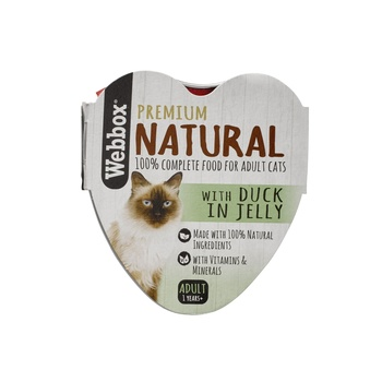 Webbox Natural Cat Food Heart Duck In Jelly 85g