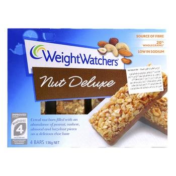 Weight Watchers Nut Deluxe Bars 136g