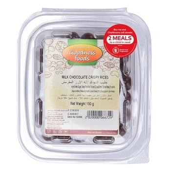 Goodness Foods  Milk Chocolate Crispy Rices 150g