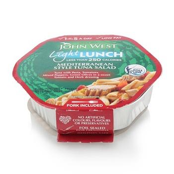 John West Mediterranean Style Tuna Salad Light Lunch 220g