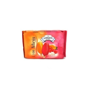 London Dairy Mango & Raspberry Mini Stick Sorbet 8 X 50ml