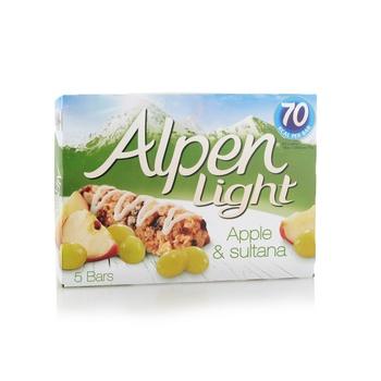Alpen Apple & Sultana Light Bar 6x21g