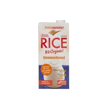 Pure Harvest Organic Rice Milk Unsweetened Original 1ltr