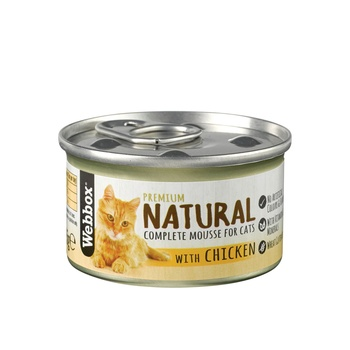Webbox Natural Cat Food Mousse Chicken 85g
