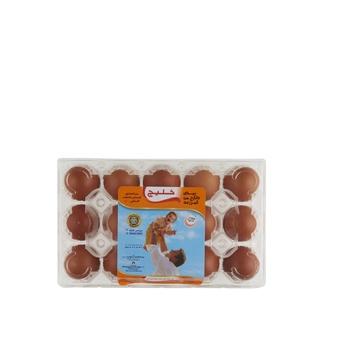 Khaleej Brown Eggs Large 15's Pack