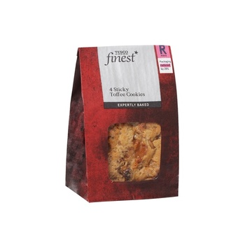 Tesco Finest 4 Sticky Toffee Cookies
