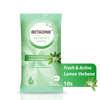 Betadine Intimate Wipes Lemon Verbena 10's
