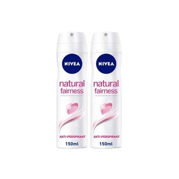Nivea Natural Fairness Anti-Perspirant Spray 150ml Pack Of 2