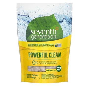 Seventh Generation Machine Dishwash Auto Lemon Scent 20 Counts