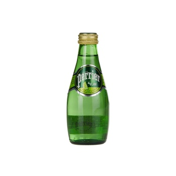 Perrier Natural Sparkling Mineral Water Lime Glass Bottle 200 ml