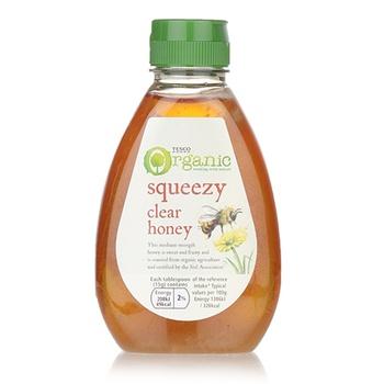 Tesco Organic Squeezy Clear Honey 340G