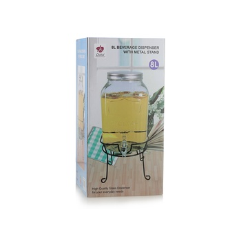 Orchid Beverage Dispenser with Stand