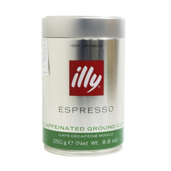 Illy Espresso Decaffeinated Ground Coffee 250g