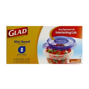 Glad Containers & Lids Mini Round 118 M 8 pcs