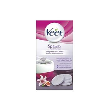 Veet Hair Removal Spawax Stripless Wax Purple Lily & Sugar Fig Refill 6s