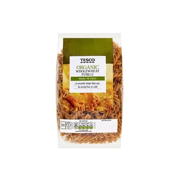 Tesco Organic Wholewheat Fusilli Pasta 500g