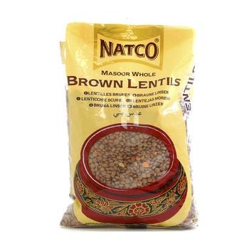 Natco Masoor Whole Brown Lentils 500g
