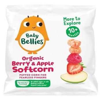 Baby Bellies Organic Berry & Apple Softcorn (10+ Months) 8g