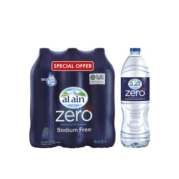 Al Ain Zero Water 6 X 1.5ltr