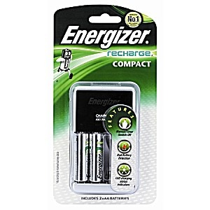 Energizer Charger with AA Batteries 2 Pack
