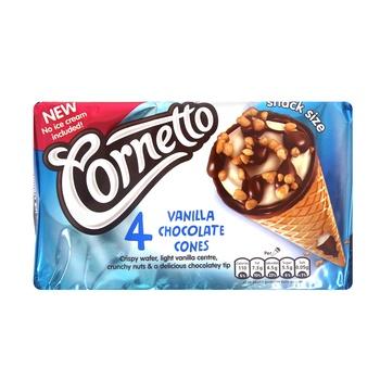 Walls Cornetto Vanilla Chocolate Cones 4 X 20g