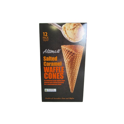 Altimate Salted Caramel Waffle Cones 170g