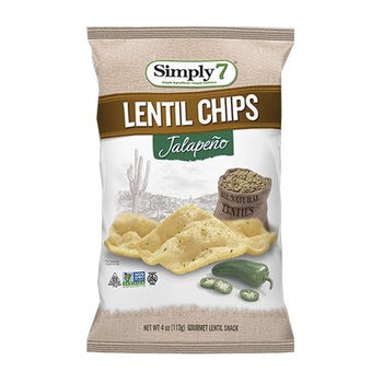 Simply7 Chips Lentil Jalapeno 3.65 Oz