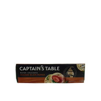 Captain'S Table Water Crackers  Cracked Black Pepper 125g