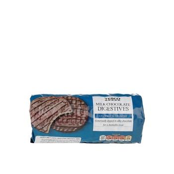 Tesco Milk Choc Digestive Biscuits 300g