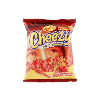 Leslie Red Hot Cheezy Chips 70g