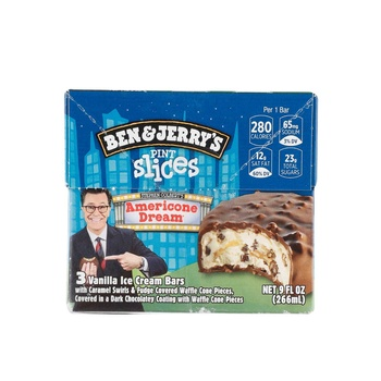 Ben&Jerry Popslice Icecream American Dream 9oz