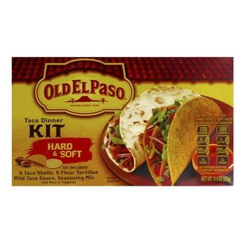 Old El Paso Hard & Soft Taco Dinner Kit 323g