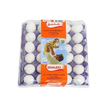 Khaleej White Eggs - Med  30's
