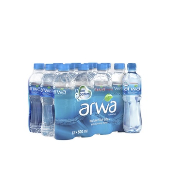 Arwa Bottled Drinking Water 12 x 500 ml @ 5.75 AED