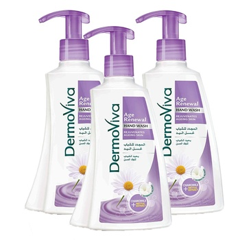 Dermoviva Age Renewal Handwash 200ml Pack of 3
