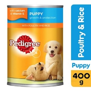 Pedigree Poultry and Rice Wet Dog Food Puppy Up to 12 months Can 400g