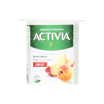 Activia Yoghurt Peach Apricot Light 120g