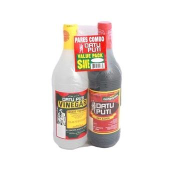 Datu Puti Vinegar 1 litre +Soy Sauce 1ltr